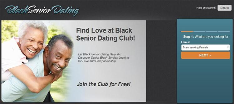 Free black senior dating sites